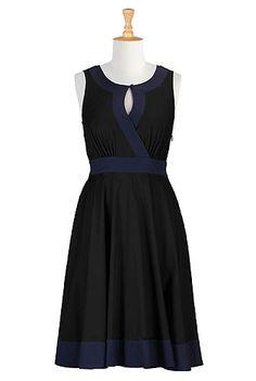 I <3 this Two tone poplin dress from eShakti