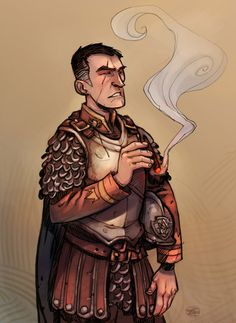 Sam Vimes by zazB.deviantart. - #Discworld Words cannot describe how much I love love love this depiction of Vimes.