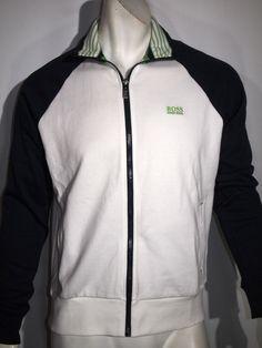 Hugo Boss skoz core track jacket size xl NWT white navyblue MSRP $120.00 on sale #BOSSbyHugoBoss #trackjakcet