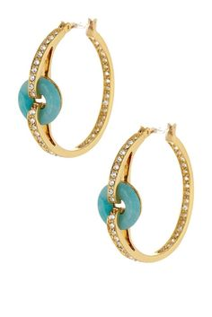 Rachel Zoe Pave Circle Hoop Earrings - NWT and retail for $195!
