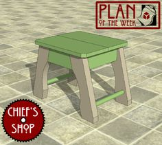 Plan of the Week: Bath Stool