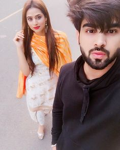 Happy brthday braro @oshinbrarr Rab tainu duniya di har khushi deve Best Couple Pictures, Cute Couple Images, Cute Love Couple, Cute Girl Pic, Couple Dps, Couple Goals, Mens Hairstyles With Beard, Boys Long Hairstyles, Portrait Photography Men