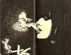 o eterno charme de quem fuma ( e a cafoníce do mal hálito e dentes amarelados!)