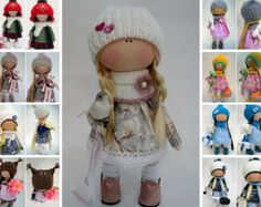 Textile doll Handmade doll Fabric doll Tilda doll Rose doll Soft doll Cloth doll Collectable doll Rag doll Interior doll by Master Olga P ____________________________________________________________________________________   Hello, dear visitors!  This is handmade fabric doll created by Master Olga P. (Kazan, Russia). All dolls stated on the photo are mady by artist Olga P. You can find them in our shop searching by artist name.  Doll is 30 cm (11.8 inch) tall and made of only quality…