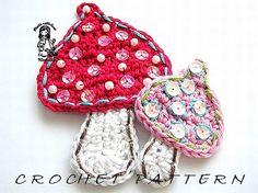 Mushrooms crochet pattern by VendulkaM on Etsy, $3.30