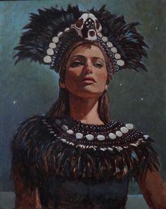 "Saatchi Online Artist: Michael Foulkrod; Oil, 2013, Painting ""Yasmine#2"""