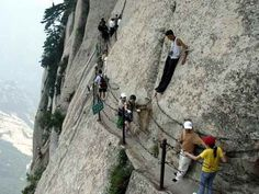 the-most-dangerous-mountain-trail-in-the-world.... I doubt it. Looks pretty 'secured' yet fun!