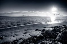 Beautiful BW Seattle Sunset