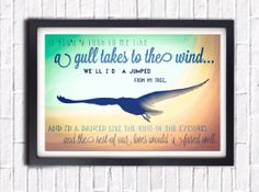 Flying Seagull at Sunset Beach Print with by SargentIllustration, $30.00
