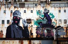 Abandoned Ship Transformed into a Graffiti Gallery