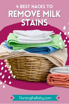 Nothing ruins clothes like a milk stain. But don't throw anything away! Here's how to remove a milk stain completely. Like it never happened!! #nursingthebaby #breastmilk #breastfeeding #milkstains #babylaundry #babyclothes #stainremoval #breastfeedingmoms #nursingmothers #removemilkstains #breastmilkstain Nursing Schedule, Nursing Tips, Breastfeeding Positions, Breastfeeding Problems, Benefits Of Breastmilk, Breastmilk Storage, Nursing Mother, Finding Joy, Mom Humor