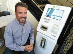 The Bitcoin ATM at Amante's on Baseline, and Eric Weissmann, founder of Modern Tender, the operating company that manages the bitcoin teller machine. Automated Teller Machine, Buy Bitcoin, Bouldering, Cryptocurrency, Coffee Shop, Let It Be, Marketing, Experiment, Futuristic