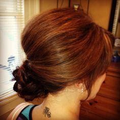 Wedding hair side updo