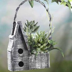 wood birdhouse centerpieces - Google Search