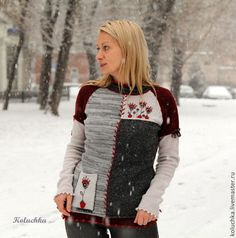 Декабрь 2014 - абстрактный,вязаная кофточка,теплая одежда,зима 2015,koluchka