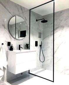 bathroom ideas * bathroom ideas _ bathroom ideas small _ bathroom ideas on a budget _ bathroom ideas modern _ bathroom ideas apartment _ bathroom ideas master _ bathroom ideas diy _ bathroom ideas small on a budget Bathroom Design Luxury, Modern Bathroom Design, Modern Bathrooms, Master Bathrooms, Small Bathroom Interior, Minimal Bathroom, Bathroom Black, Boho Bathroom, Bathroom Mirrors