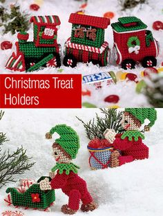 Christmas Treat Holders ~ intermediate ~ PLASTIC CANVAS