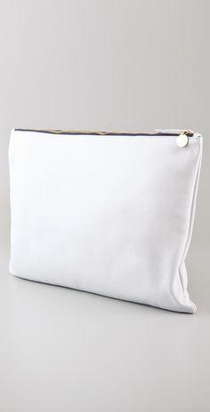 Bright White / CLARE VIVIER Oversized Clutch