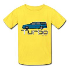 Blue Volvo 850 T5 Wagon Turbo Brick T-Shirt for kids. 100% cotton   artsmoto.com #kids #fashion #t-shirts