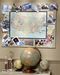 Map Memory Board (with a World Map)