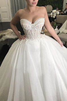 Puffy Sweetheart Neckline Tulle Ball Gown Wedding Dresses, Sexy Bridal Dress sold by Tidedress. Wedding Dress Train, Sweetheart Wedding Dress, Perfect Wedding Dress, Cheap Wedding Dress, Dream Wedding Dresses, Bridal Dresses, Gown Wedding, Strapless Wedding Dresses, Extravagant Wedding Dresses