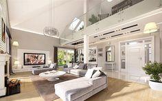 Willa Parkowa B. Cute House, Good House, House Outside Design, House Design, My Living Room, Living Room Decor, Modern Bungalow House, Home Fashion, Luxury Homes