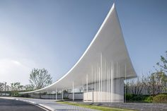 Gallery of Yuanlu Community Center / Challenge Design Photo: Arch exist Concrete Architecture, Modern Architecture Design, Architecture Portfolio, Futuristic Architecture, Amazing Architecture, Architecture Diagrams, Modern Design, Pavillion Design, Public Space Design