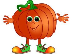 Pumpkin is the most popular craft for the harvest season, especially for Halloween. My pumpkin isn't scary, it's happy and cheerful. Beer Cartoon, Food Cartoon, Fruit Clipart, Cute Clipart, Funny Fruit, Cute Fruit, Thanksgiving Pictures, Thanksgiving Crafts, Pumpkin Images
