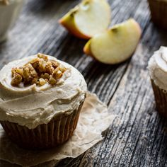 Quinoa Flour Apple Spice Muffins with Cinnamon Cream Cheese Frosting ...