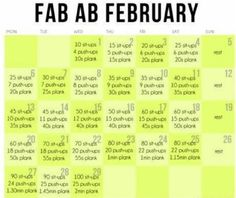 Ok the dates are off and there is one extra workout but still going to try and follow. Fab ab feb Planks how I love to hate you! Im trying this challenge this feb!!!