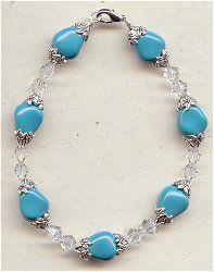 IDEA: Jasmine and Turquoise Bracelet (eebeads.com)
