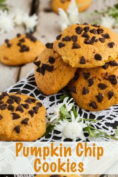 Tasty recipe for pumpkin chocolate chip cookies - perfect for Fall!