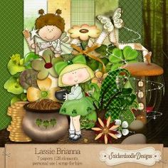 Lassie Brianna - A whimsical Irish Mini! Be sure to take a look at the scrapbook page layouts for inspiration! #SnickerdoodleDesigns