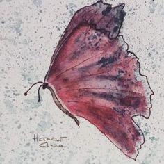 Pillangó. Tus, akvarell, papír.