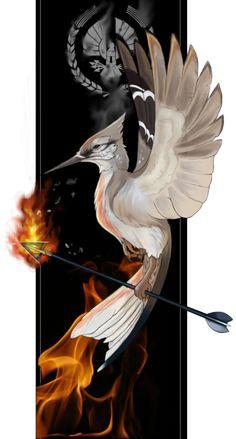 Mockingjay Art From The Hunger Games The Hunger Games, Hunger Games Fandom, Hunger Games Catching Fire, Hunger Games Trilogy, Katniss Everdeen, Fan Art, Tribute Von Panem, I Volunteer As Tribute, Mocking Jay