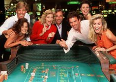Enjoying casino couple men women