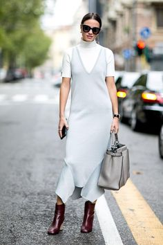 How to wear your summer dresses into winter.