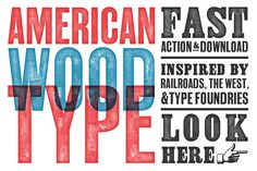 American Wood Type by RetroSupply Co. on @creativemarket