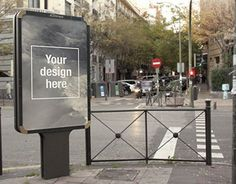 Free PSD Outdoor Advertising mock-up. You only have to replace the smart object with your design.