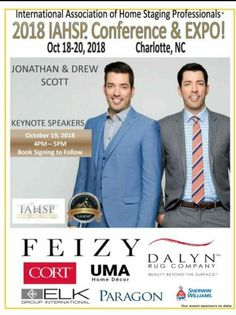 The Scott Brothers are the Keynote Speakers at IAHSP Conf and Expo 2018!!  www.iahspconexpo.com. Register now!!