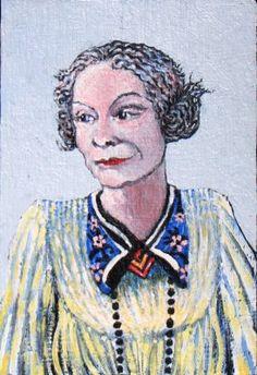 Madame de Bontemps die de reputatie heeft ellenlange bezoeken af te leggen