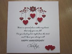St anniversary wedding day card husband paper dictionary style