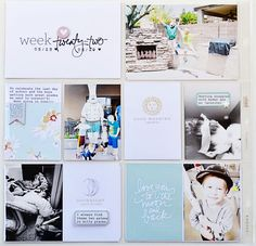 Project Life by Candace Perkins One Little Bird Project Life Planner, Project Life Freebies, Project Life Scrapbook, Project Life Album, Project Life Layouts, Project Life Baby, Pocket Page Scrapbooking, Scrapbooking Layouts, Digital Scrapbooking