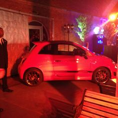 The #fiat #abarth at the #espn NFL pre-draft party! #fiat #fiat500 #abarth