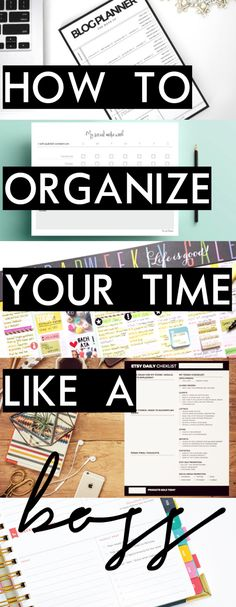 How to Organize Your Time Like a Boss