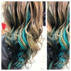 #teal  hair #blonde