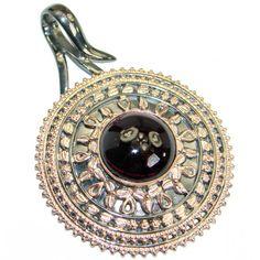 Vintage Design Authentic Red Garnet Rose Gold .925 Sterling Silver handmade pendant Jewelry Design, Unique Jewelry, Silver Pendants, Red Garnet, Handmade Silver, 1 Piece, Vintage Designs, Pendant Jewelry, Rose Gold