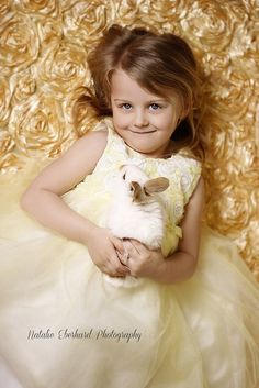 Girl Visit with the Easter Bunny Photography by neberhard, via Flickr