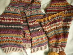 "Bezem Design ~ Claims of Orkney vest from Rowan 52 by Marie Wallin, for lovers! Pattern I kept, colors slightly modified."" Hanneke Broom blog site"