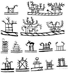 Shaman´s drum symbols in Scandinavia Ancient Scripts, Ancient Art, Esoteric Symbols, Alphabet Symbols, Lappland, Book People, Thinking Day, Indigenous Art, Art Deco